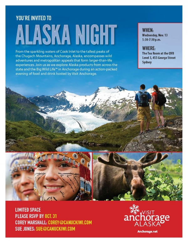 Sydney Alaska Night Invite