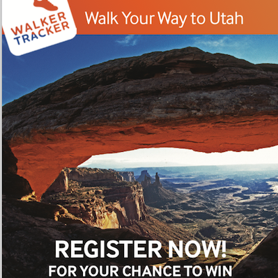 "October 1st 2020 – Utah Office of Tourism – Walk Your Way to Utah with Visit Utah ""Walker Tracker"" APP"